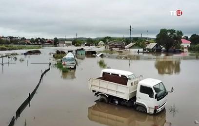 """Видео последствий тайфуна """"Джеби"""" на Сахалине"""