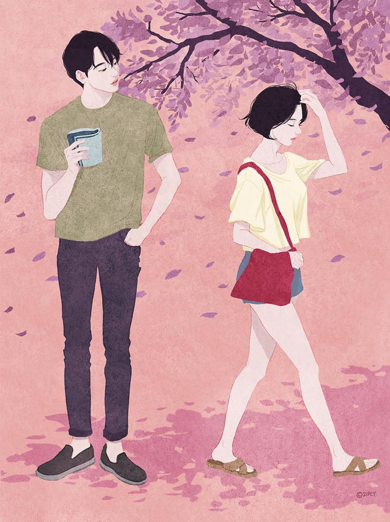 """""""Твой запах"""" Любовь, в мире, влюбленность, искусство, романтика, художник, южная корея"""