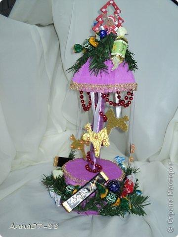 Мастер-класс Новый год Новогодняя карусель Бумага гофрированная Бутылки пластиковые Клей фото 1