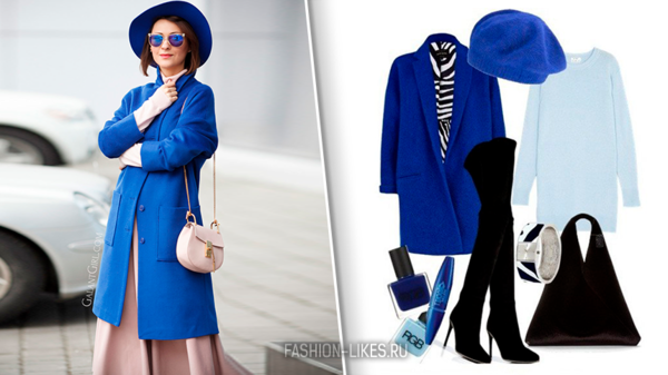 Глубокий, яркий, волнующий: 9 стильных образов в синем цвете для осенних деньков