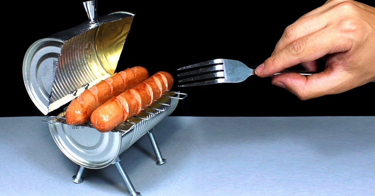 Genius Lifehacker Turns Aluminium Can Into A Mini Barbecue Grill, Shows How He Does It