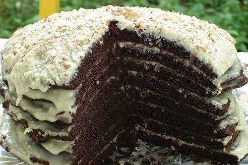 Домашний торт «Ноченька» на кефире