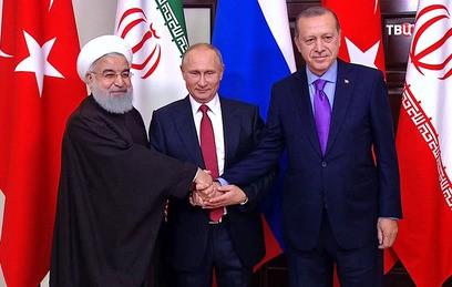 Путин, Роухани и Эрдоган обсудили послевоенное устройство Сирии