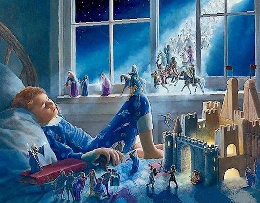 Когда дети спят - к ним в окна залетают любимые сказки