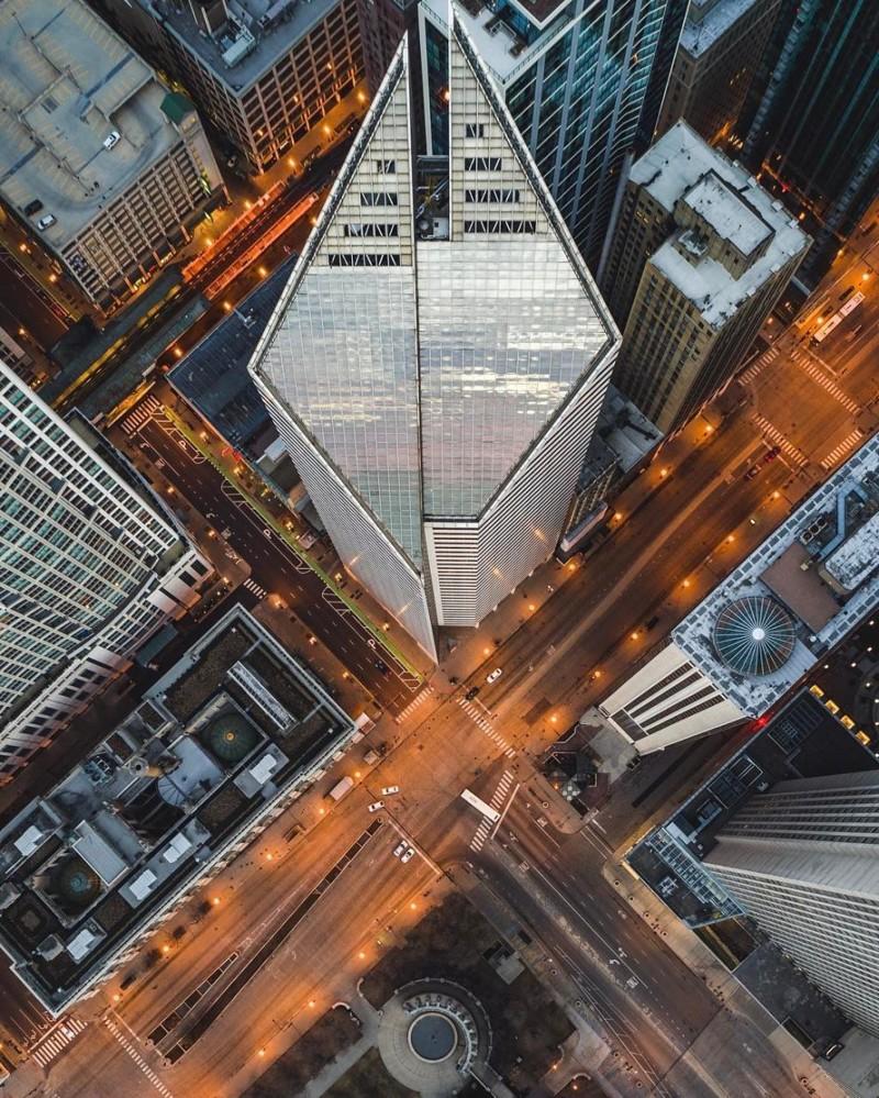 Потрясающие виды Чикаго с высоты птичьего полета город с высоты, дрон, снимки, фото, фотограф, чикаго