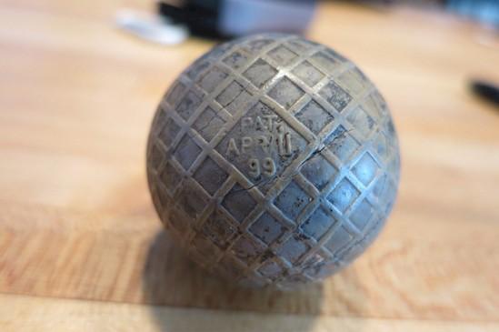 5. Мячик для гольфа 1899 года археология, дача, находки, удивительное рядом