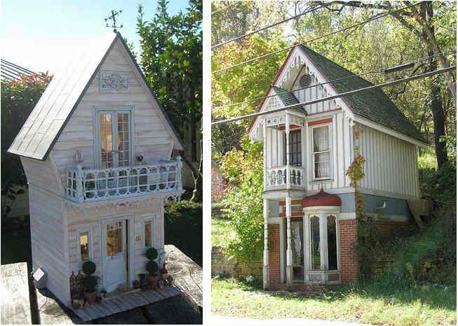 двух этажный садовый домик