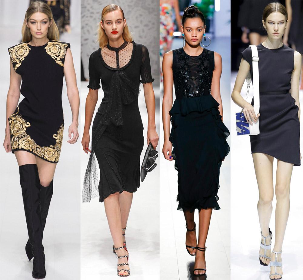 Черное платье 2018 и секреты стильного образа