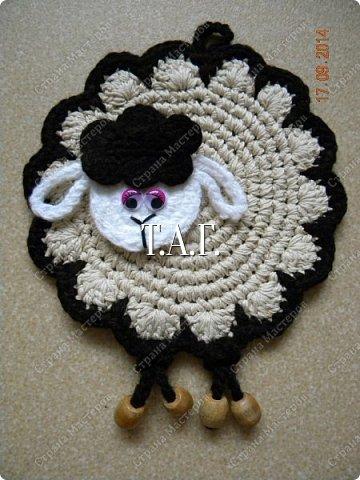 Мастер-класс Поделка изделие Новый год Вязание Вязание крючком Облачко на ножках бегает по дорожке  Бусины Клей Нитки Пряжа фото 3