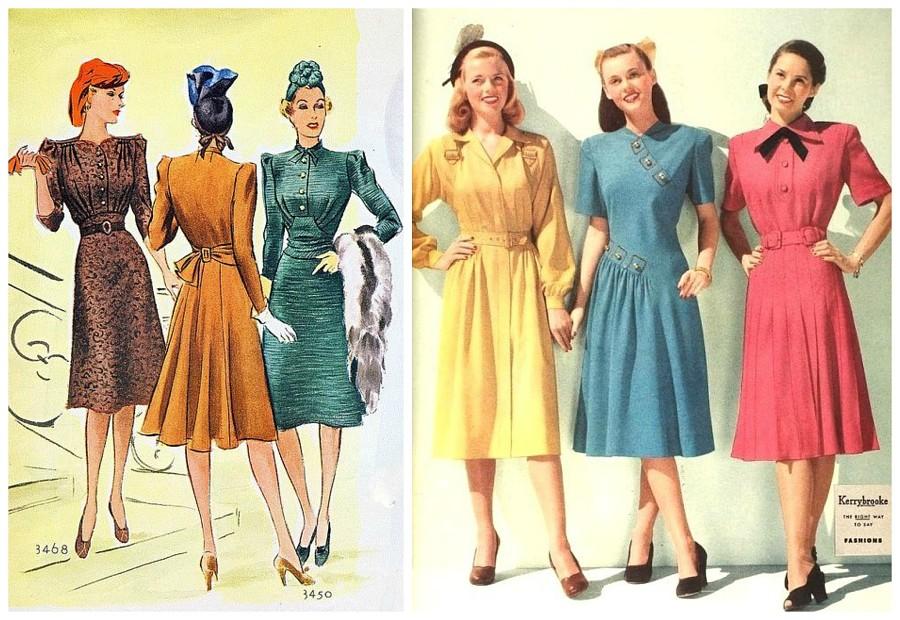 Модные советы для невысоких девушек из книг 1940-х годов