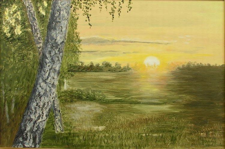 Рассветы и закаты на картинах художников