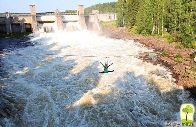 Завораживающий водопад Иматранкоски на плотине в Иматре, Финляндия - 3