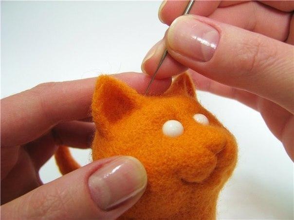 Котенок Мандаринчик своими руками