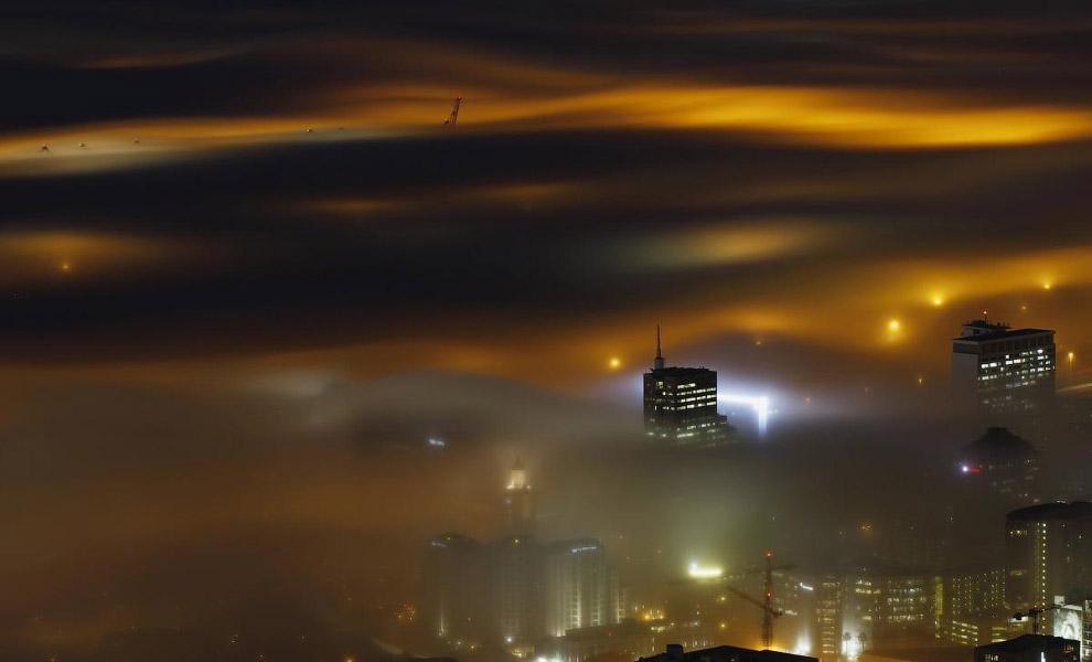 Города в облаках и тумане