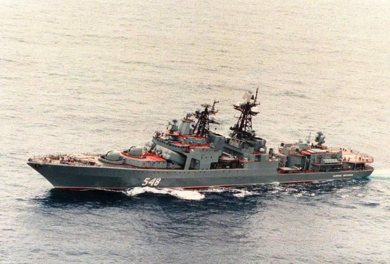 Российские корабли провели тренировку в Индийском океане
