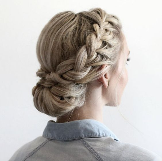 французская коса прическа
