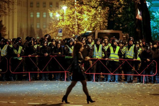 В Киеве проходит марш сторонников Саакашвили
