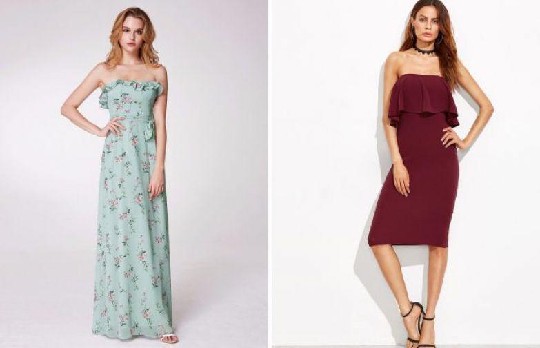 повседневные летние платья без бретелей 2018
