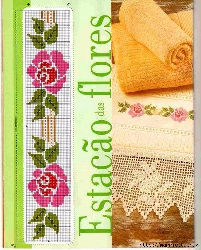 Вышиваем розы на скатерти и салфетках. Схемы (12) (411x512, 169Kb)
