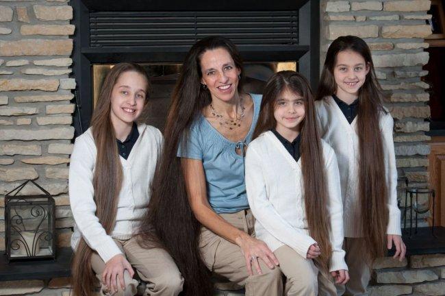 Семья Рапунцель из США волосы,