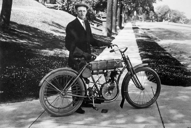 history of motorcycles and the automobile