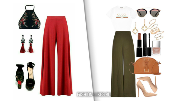 6 небанальных идей с широкими брюками для свободных и стильных