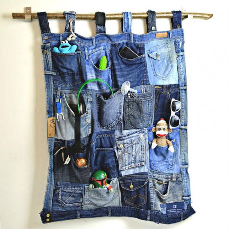 5 замечательных «ленивых» идей из старых джинсов
