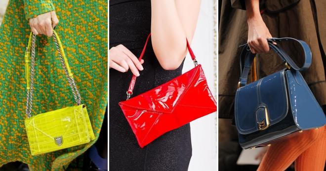 Лаковая сумка – с чем носить и как дополнить модный образ?