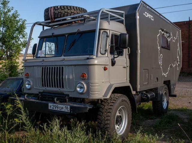 Внедорожный автодом на шасси ГАЗ-66