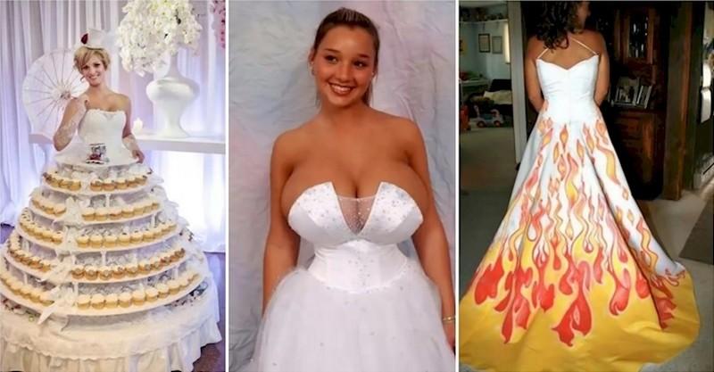 20 невест, которые прогадали с выбором свадебного платья невесты, свадебное платье
