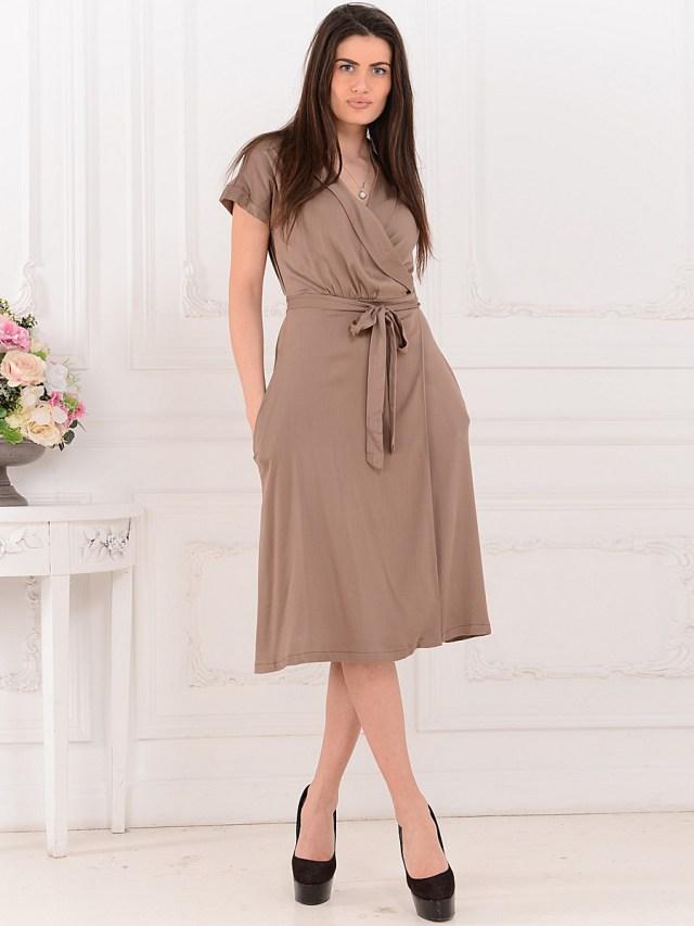 Модный фасон платья с запахом
