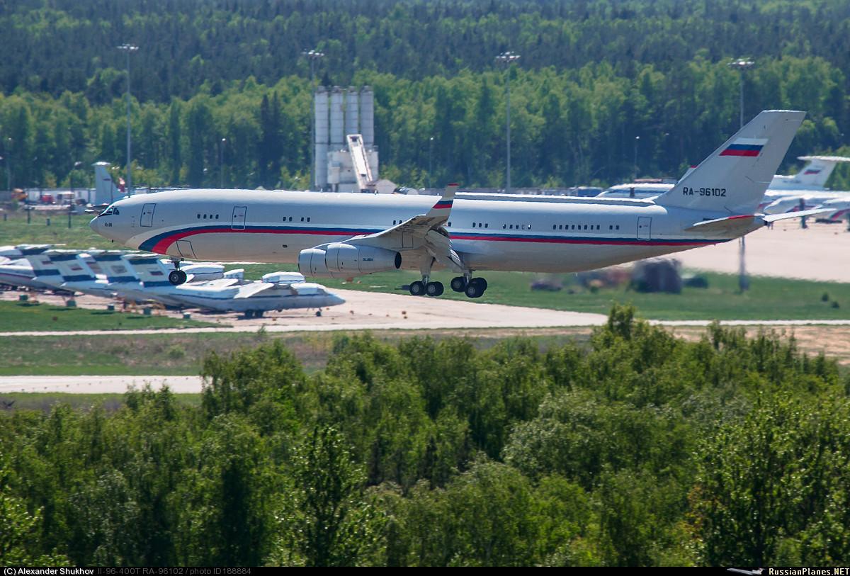 Самолет Ил-96-400 Министерства обороны России прибыл в Чкаловский