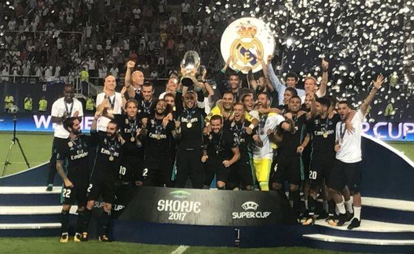 «Реал» обыграл «Манчестер Юнайтед» изавоевал Суперкубок УЕФА