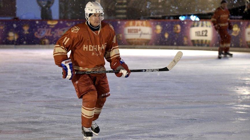 Прямая трансляция: Путин играет в хоккей в Сочи