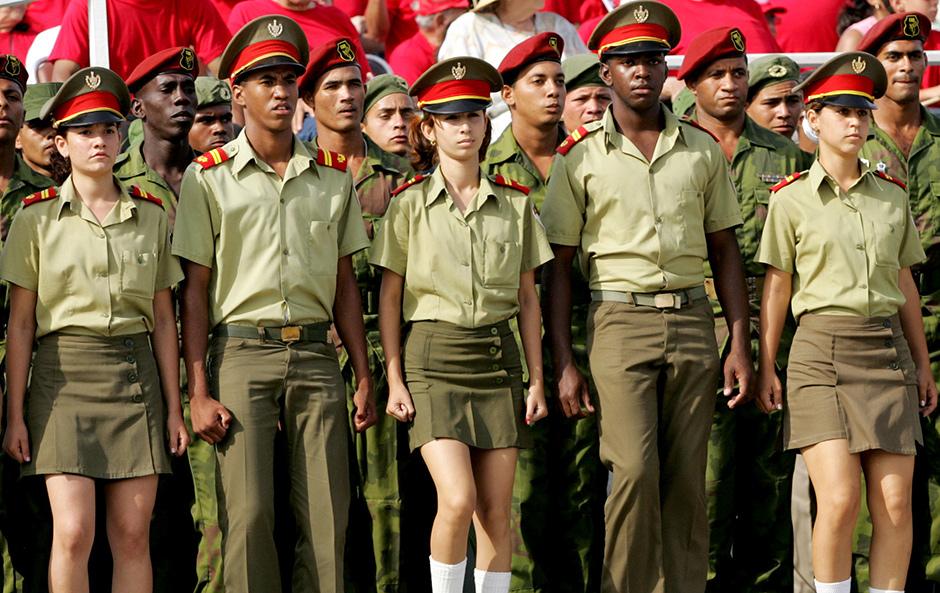 Революционные вооруженные силы Кубы на майском параде в Гаване