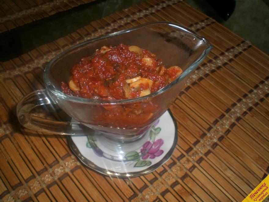 Томатный соус с грибами (пошаговый рецепт с фото)