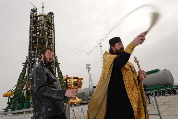 Ракету-носитель освятили перед запуском с Восточного