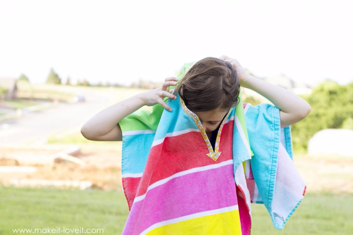 Полотенце пончо детский сшить фото 126