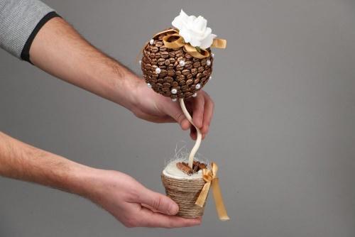 Как сделать топиарий своими руками: кофейное деревце счастья