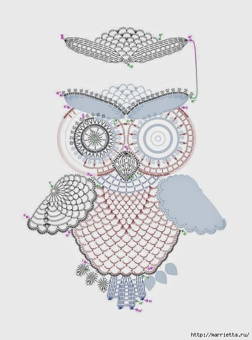 Совушки - вышиваем и вяжем крючком (1) (519x700, 175Kb)