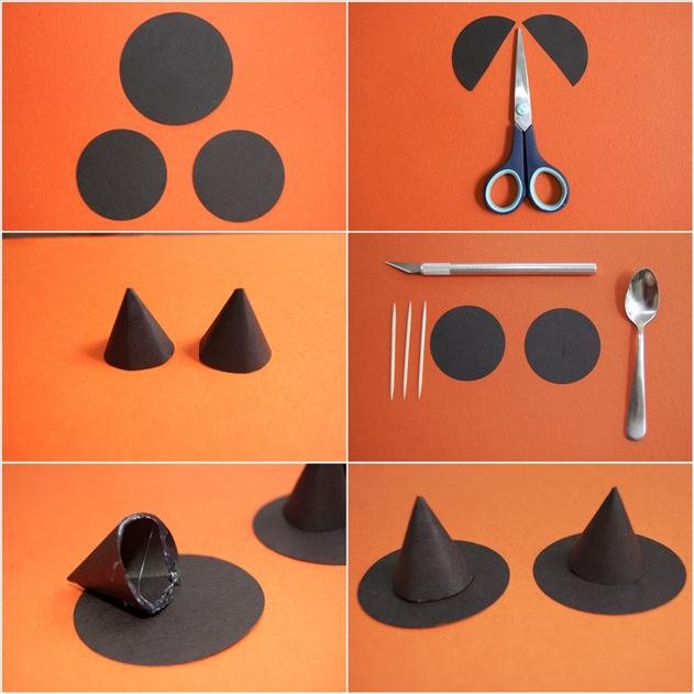how-to-make-mini-witch-hats-paper-toothpicks-halloween-decor