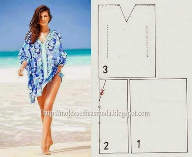 Пляжное платье своими руками из трикотажа