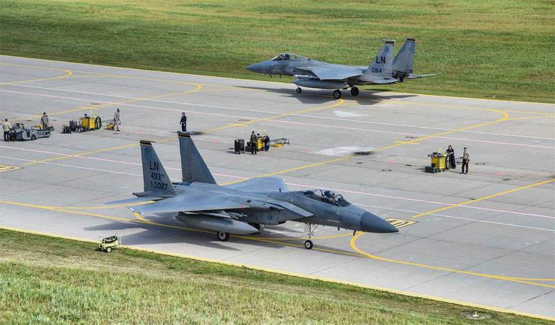 """США перебросили в Литву семь F-15. Ждут учений """"Запад-2017""""?"""