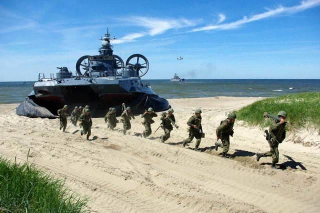 Состав созданных на флотах армейских корпусов