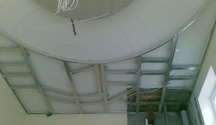 Как сделать двухуровневый потолок из гипсокартона своими 30