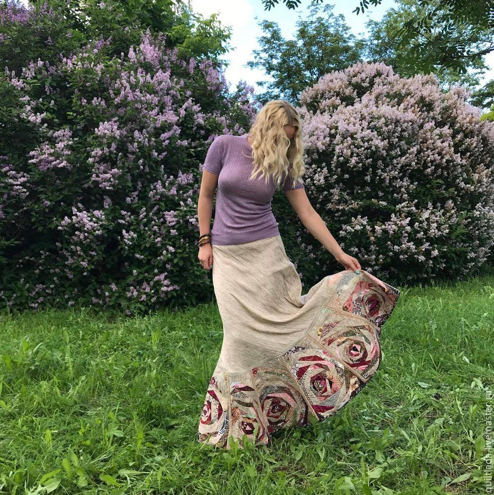 Как сшить лоскутную юбку из дикого шелка. Часть 2