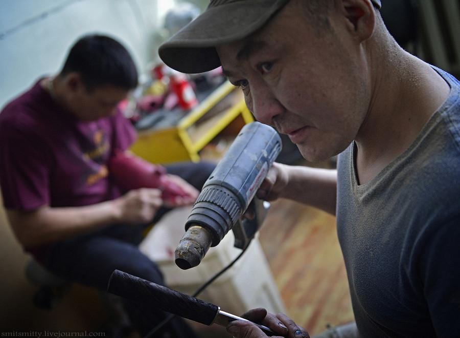 Как делают якутские ножи как это сделано, оружие, якутский нож