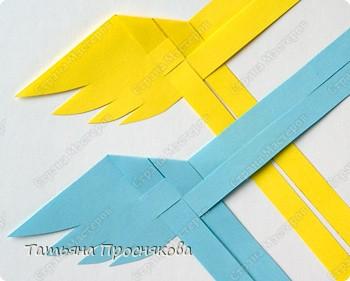 Мастер-класс Поделка изделие Плетение Плетёные птички Бумага фото 7