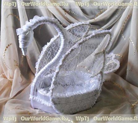 Мастер класс подарочная корзинка «Лебедь».