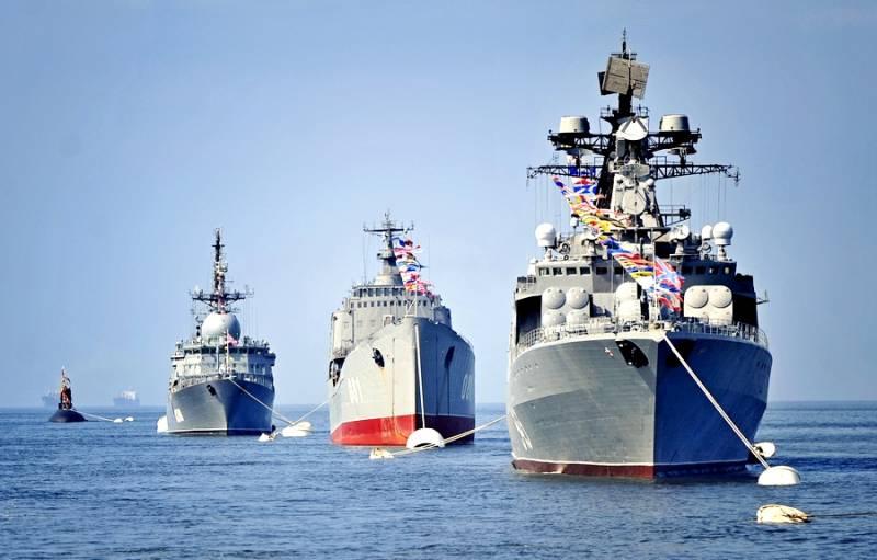 Репетиция крупнейшего военно-морского парада в истории России
